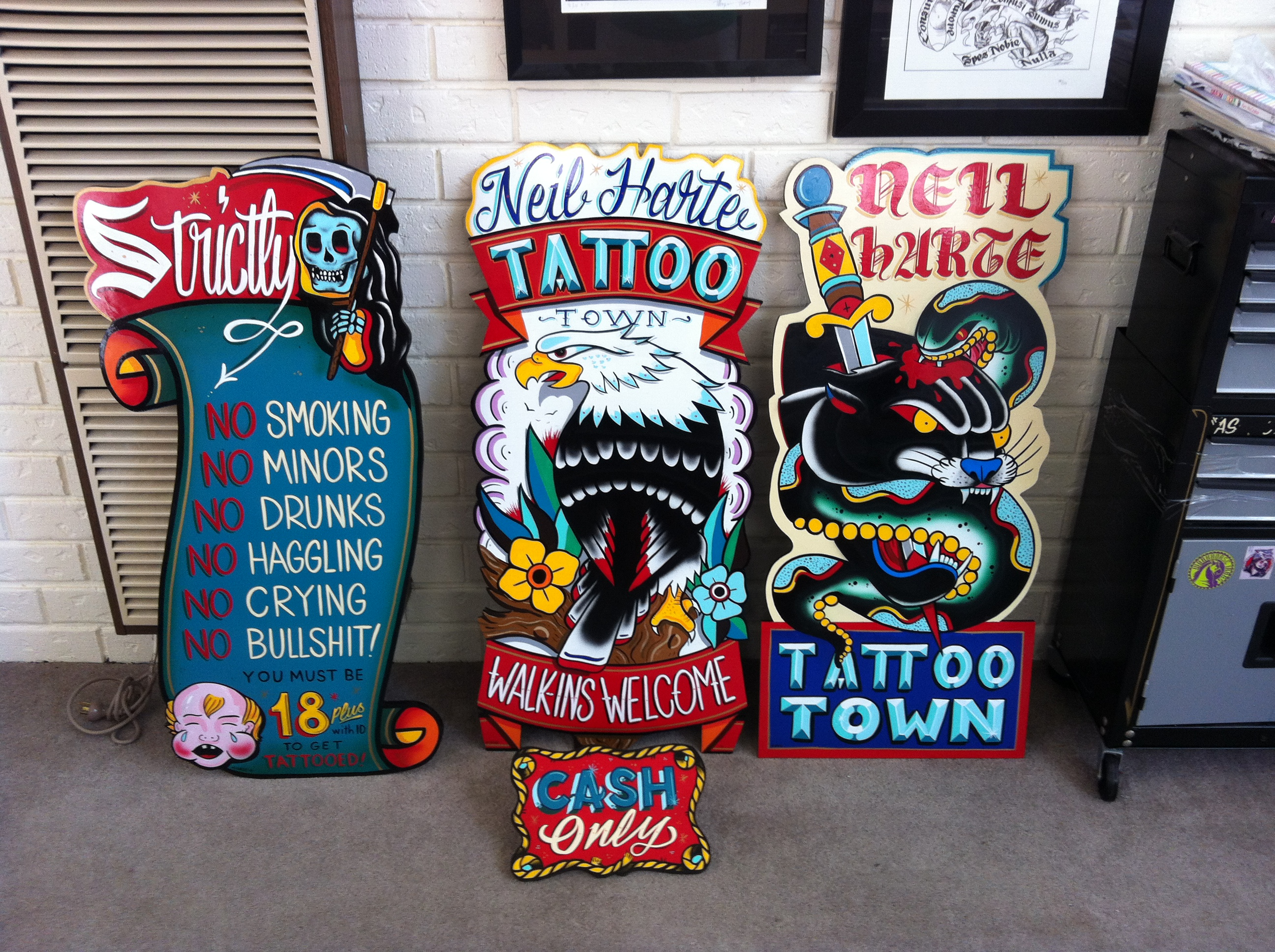 Top tattoo parlor signs images for pinterest tattoos for Best tattoo shop dublin